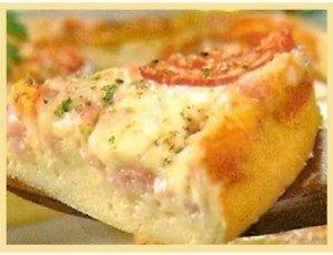 Torta Cremosa de Pizza - Ideal Receitas