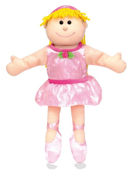 Adorably cute Ballerina Tellatale hand puppet is great for bringing story time to life. A beautifully designed quality fabric hand puppet with fine detailing. These hand puppets are extraordinary quality and will supply your little ones (and bigger ones too) with hours of imaginary play !