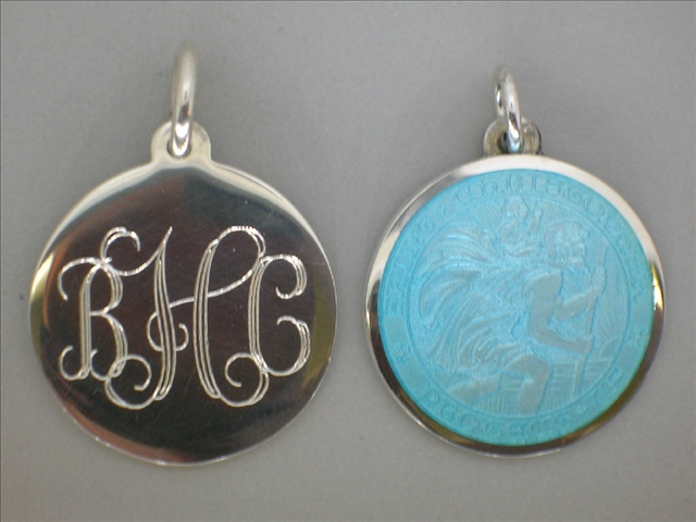 Sterling silver St Christopher medals