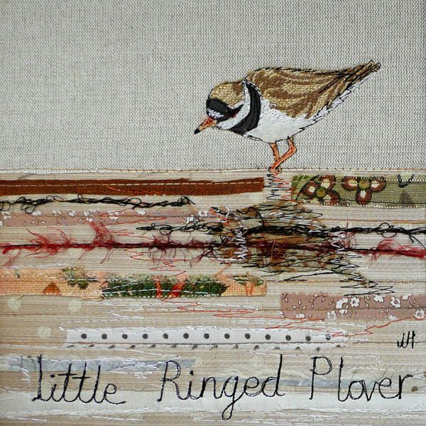 Little ringed plover @ http://www.johilltextiles.co.uk/wallhangings.php