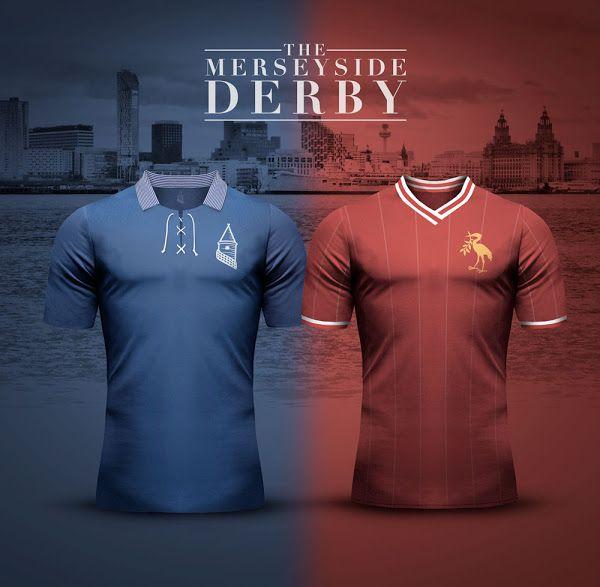 Everton v Liverpool - Merseyside Derby Concept Kits by Emilio Sansolini - Footy Headlines