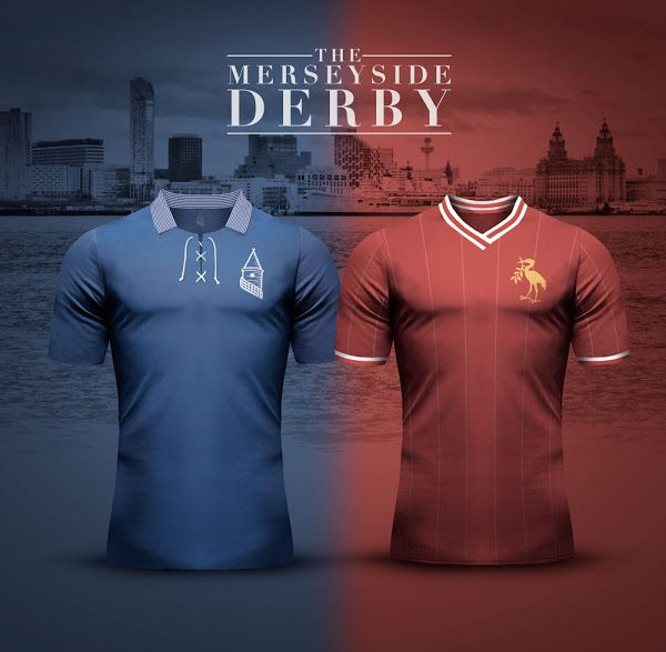 Everton v Liverpool - Merseyside Derby Concept Kits by Emilio Sansolini - Footy Headlines