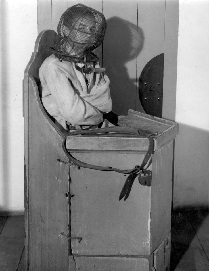 A children's chair from the lunatic room in a Dutch hospital room in 1938.