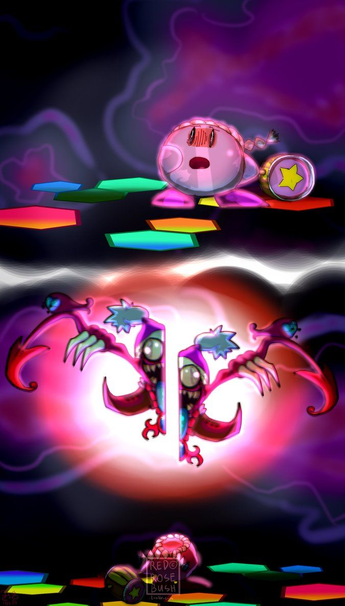 Marx Soul Defeated By Rozaliared Deafeated Not Killed Because He Can Already Split In Half Voluntarily I Really Like Kirby Memes Kirby Art Kirby Character