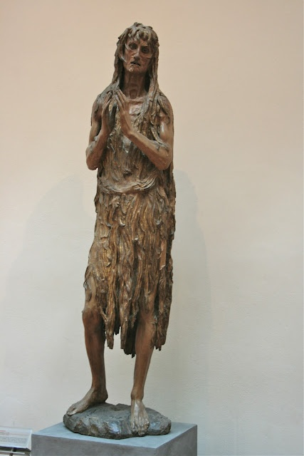 Donatello: Mary Magdalene. The sorrowful expression, make me wonder what kind of person she is.
