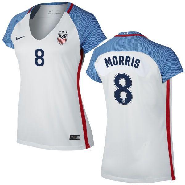 Jordan Morris Home Women's Jersey 2016 USA Soccer Team