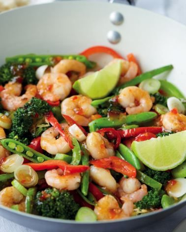 Enjoy a healthy Thai Style Stir Fry with Prawns with crunchy greens. It's scrumptious and ever so simple! Plus, it's a great start to the New Year…