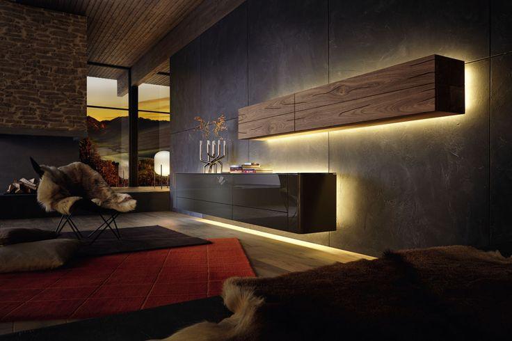 #livingroom #huelsta #hülsta #laquer #wood #corewalnut #ambientelighting  #lighting #furniture #elegant #interiordesign