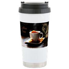 It's always coffee time! #coffee #mug #travel Stainless Steel Travel Mug