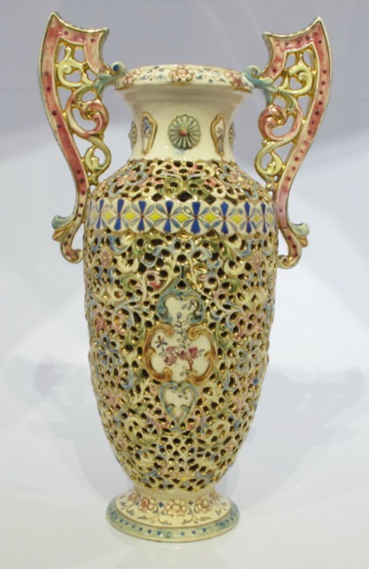 Antique Fischer Ignác vase