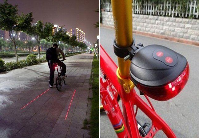 Um dos principais desafios enfrentados pelos ciclistas costuma ser a falta de segurança no trânsito. Em locais onde não há ciclovias, o problema se torna ainda pior. Foi pensando nisso que surgiu este pisca traseiro inovador, que cria uma ciclofaixa virtual em torno do ciclista. O aparelho possui luz LED e laser, que podem ser ligados e desligados separadamente. E, quando utilizado, ele projeta luzes vermelhas no chão que dão a impressão de andar em meio a uma ciclofaixa - o que, de quebra…
