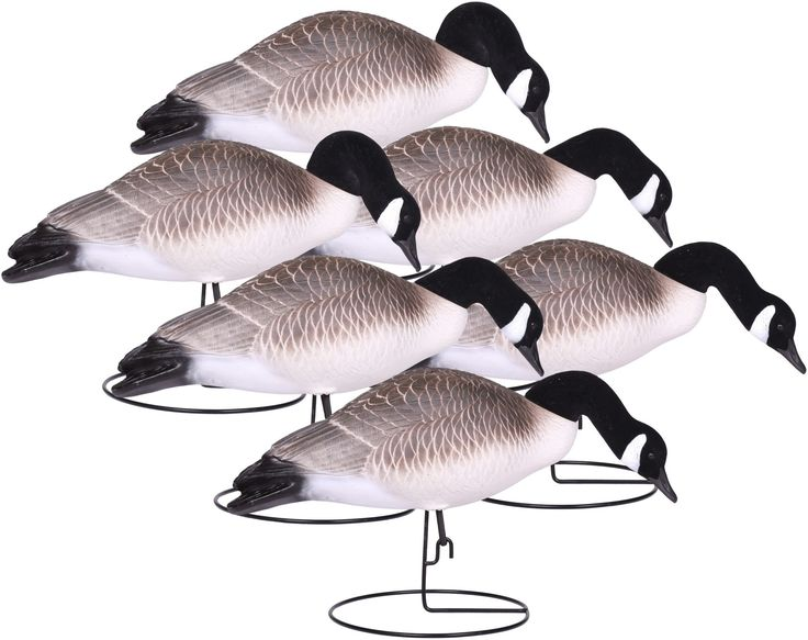 GHG Pro-Grade Life Size Canada Floater Goose Decoys - 4 Pack - Resting