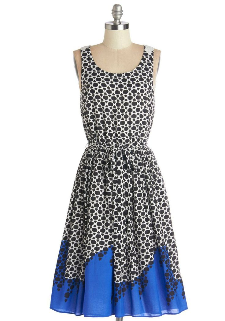 Business at the neckline, party at the hem? However you say it, this dress can take you from work to weekend in a flash!