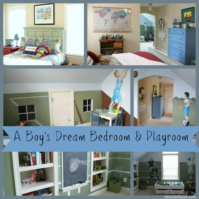 Etonnant Who Wouldnu0027t Fall In Love With This Boyu0027s Dream Bedroom And Playroom.