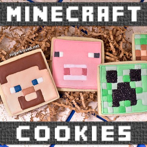 How To Make Minecraft Cookies | Steve and Creeper Cookies