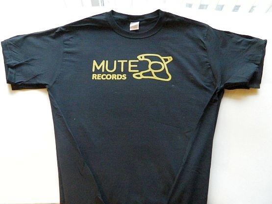 MUTE RECORDS   T shirt  label logo Black