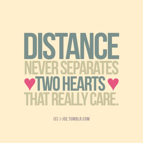 Distance never separates two hearts! ♥