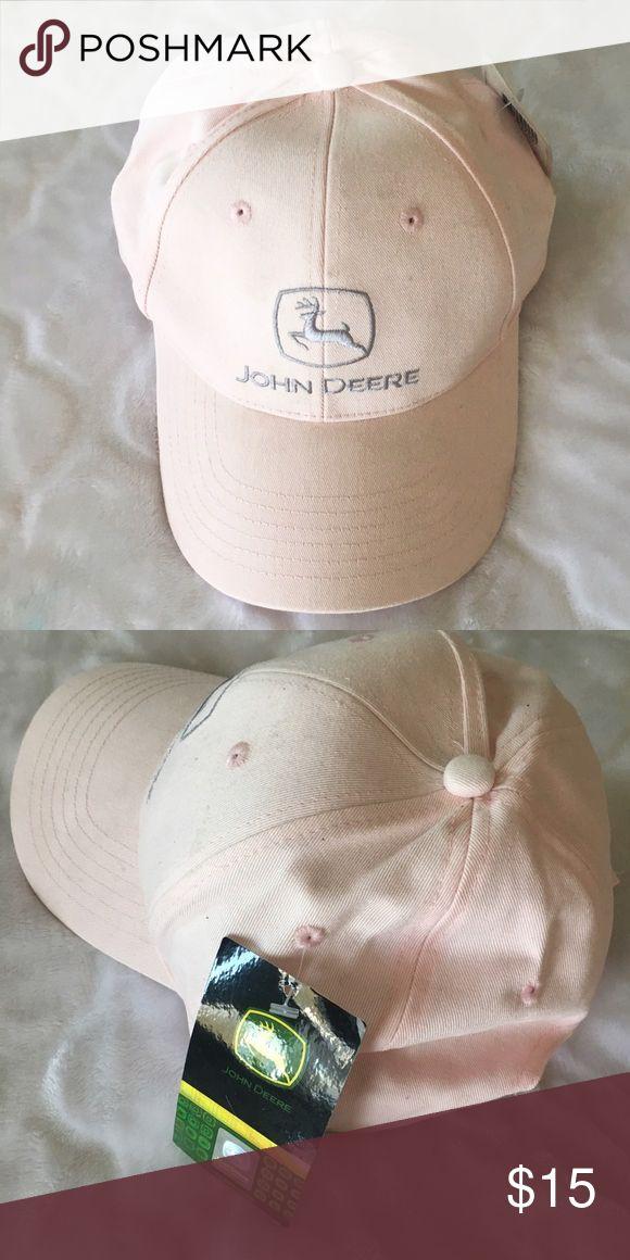 John Deere Hat NWT ✨ John Deere light pink hat with adjustable back John Deere Accessories Hats
