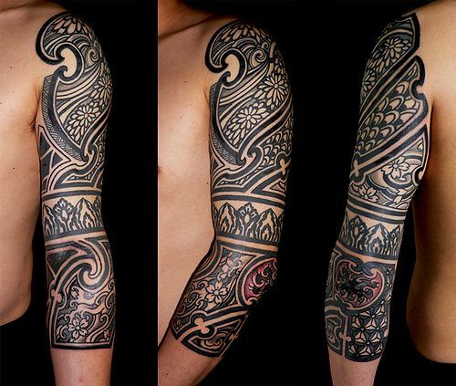 African Tribal Sleeve Tattoos African tribal tattoo designs:
