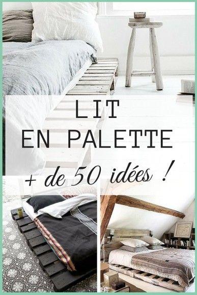 Lit Palette De Bois Lumineux : Lit En Palette sur Pinterest Meuble En Palette, Palettes et T?te De