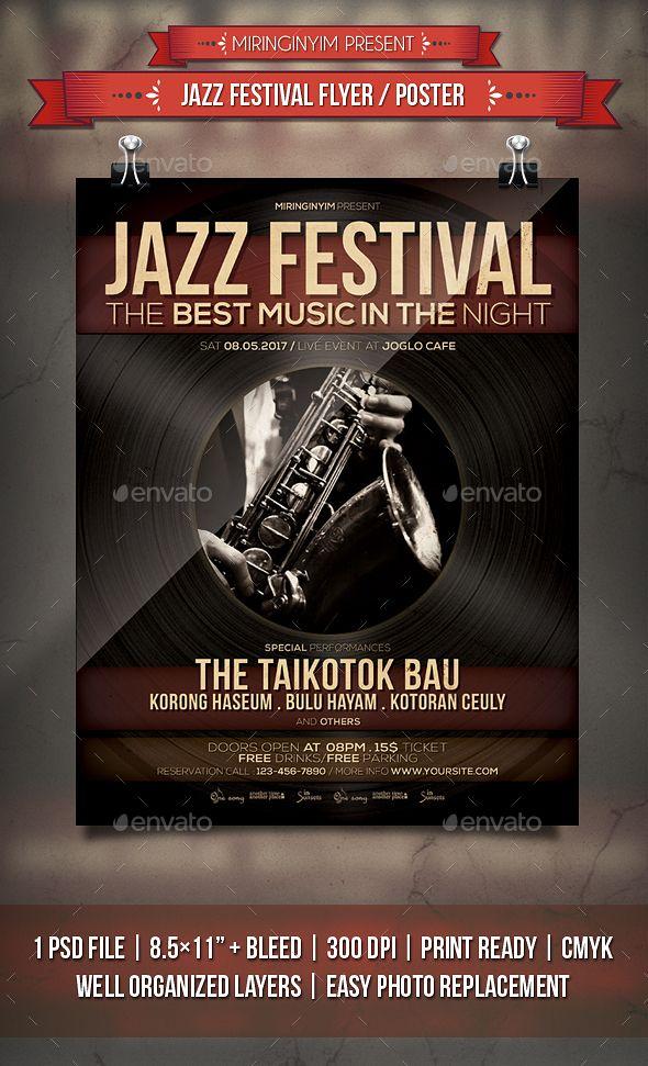 Jazz Festival Flyer / Poster Template PSD