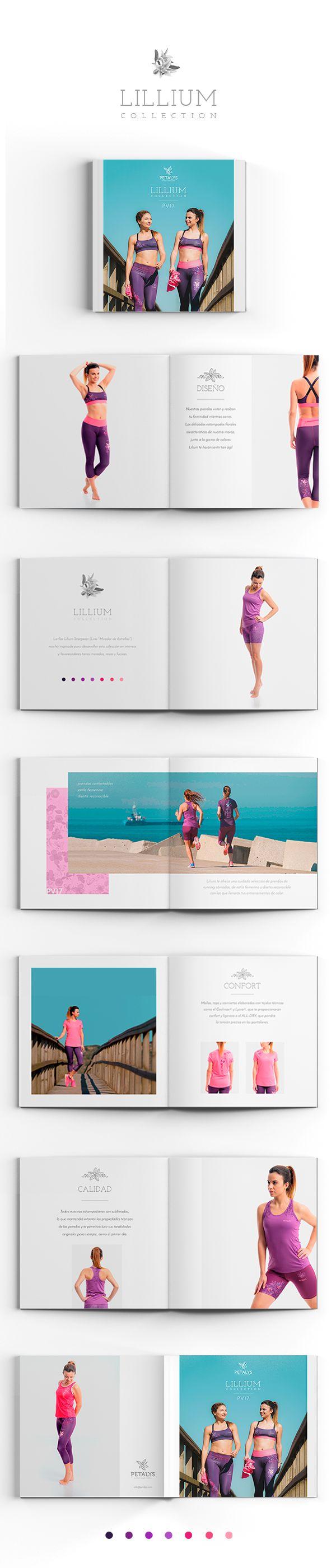Catálogo - lookbook de la Colección LILIUM de Petalys, compuesta por una cuidada selección de prendas cómodas para #correr, de estilo femenino y diseño reconocible con las que llenarás tus entrenamientos de color. Colección de ropa de #running para mujeres.