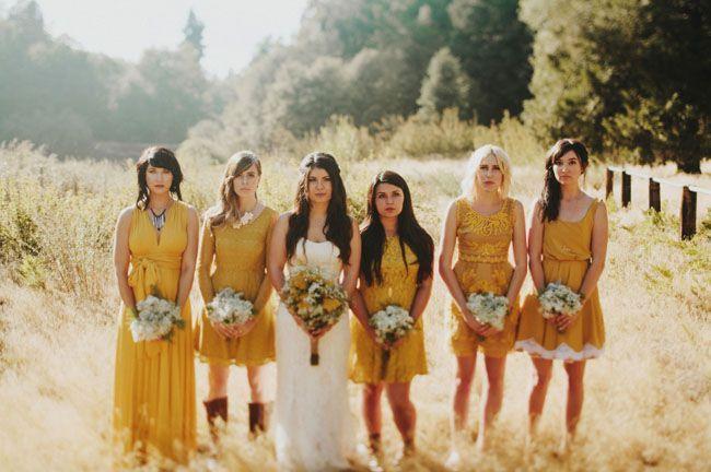 mustard yellow bridesmaids                                                                                                                                                                                 More