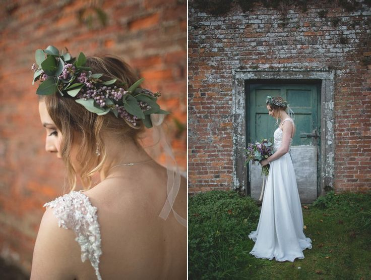 Feminine Bohemian Beautiful Bridal Ideas: Gemma Sargent Mimosa Bridal Gown http://www.photographsbyeve.co.uk/