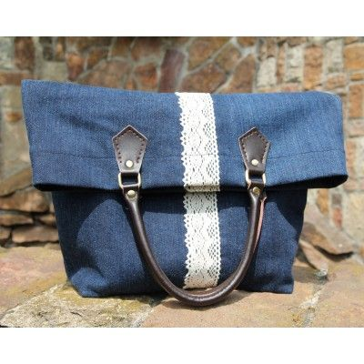 Jeans Top Handle Shopping Tote