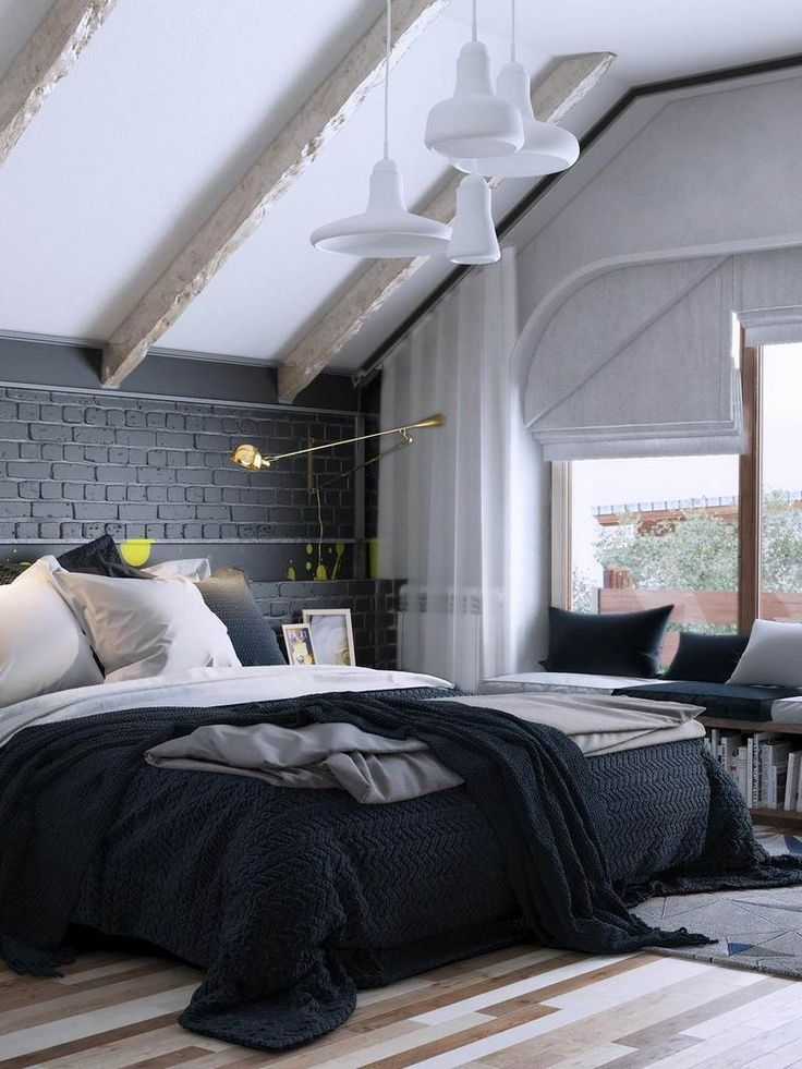Les 25 meilleures id es de la cat gorie plafond en pente for Recherche chambre a coucher adulte
