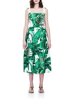 Dolce & Gabbana - Apron Brocade Dress