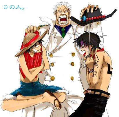 Garp, Ace and Luffy