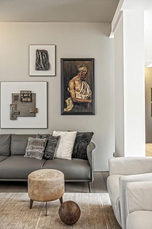 BRANDO concept    Contemporary arredamento contemporaneo interior design living salotto divano in pelle colori neutri