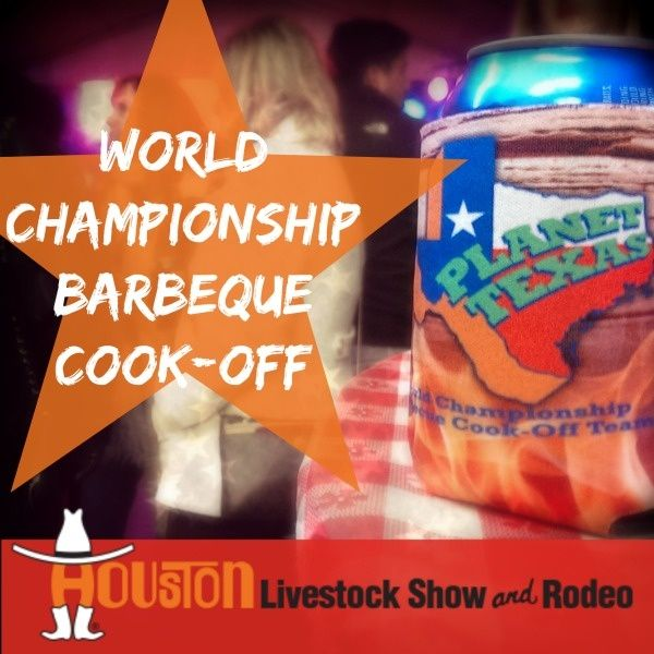 World's Championship Bar-B-Que Cook-Off at the Houston Rodeo     Every March Houston becomes home to the world's largest livestock show and rodeo. This three week long rodeo is filled with broncos, mutton busting, chuck wagon races and some