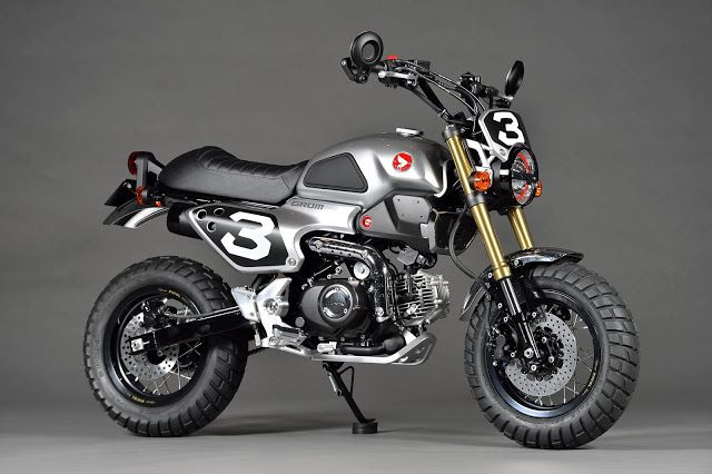 Planet Japan Blog: Honda Grom Scrambler Concept-One @ Tokyo Motorcycle Show 2015