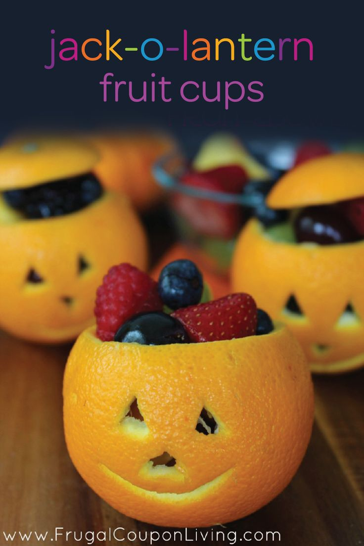 Welcome your toddler home from preschool with a spooky (and healthy!) after-school snack that's fun to eat. This fall snack is so easy to create yourself—turn an orange into a jack-o-lantern and fill it up with berries and other bite-size fruit. Your little one will love this tasty and playful Halloween snack idea.