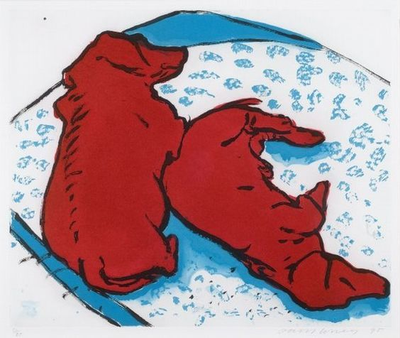 """""""Собаки вертикальные""""Дэвид Хокни (англ. David Hockney, р. 1937) - современный британский, американский художник, теоретик искусства. Биография, картины: http://contemporary-artists.ru/David_Hockney.html"""
