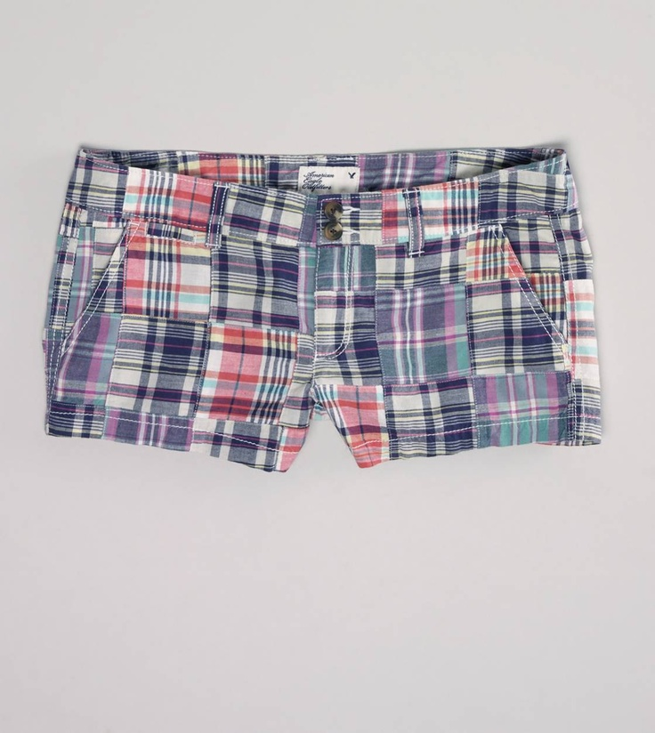 love!!!: Ae Patchwork, Plaid Shorts, Patchwork Shorts, Shorti 20, Women Shorts, Eagles Shorts, American Eagles, Summer Night, Patchwork Shorti