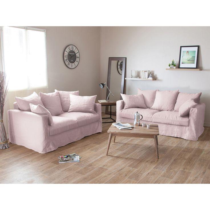 Best Canapé Lin Images On Pinterest Living Room Home Ideas And - Canapé déhoussable