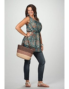plus size tank top with straight leg jeans