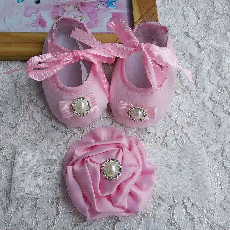 Ну вечеринку крещение балерина комплект пинетки горный хрусталь детская обувь, Обувь для девочек размер 3, Девушки цветы с бантом малыш обувь, Детские сапоги