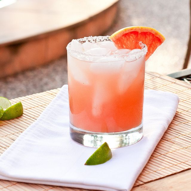 "Texas Grapefruit Margaritas - Ring in the New Year Right! From the blog 'Confections of a Foodie Bride"" - Fresh ruby red grapefruit juice and lime juice make the ultimate grapefruit margarita. Sounds good to me! Yum!"