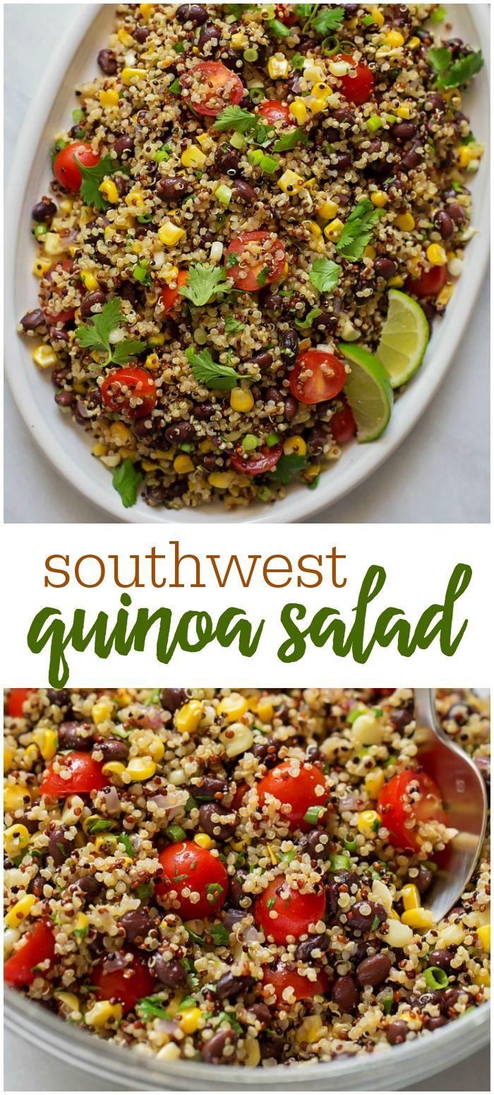 Southwest Quinoa Black Bean Salad Fresh Delicious Lil Luna Recipe Southwest Quinoa Salad Southwest Quinoa How To Cook Quinoa