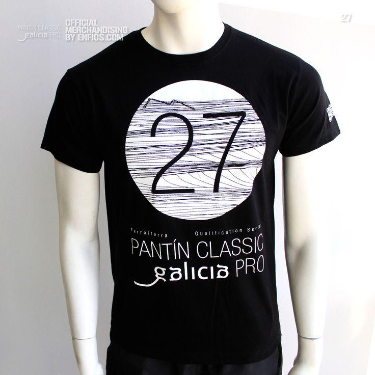 T-Shirt PANTÍN 27 (Negro). Camiseta oficial PANTIN CLASSIC PRO, evento 27 en color negro.