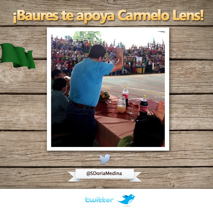 ¡Coliseo lleno en la población de Baures para recibir a Carmelo Lens!