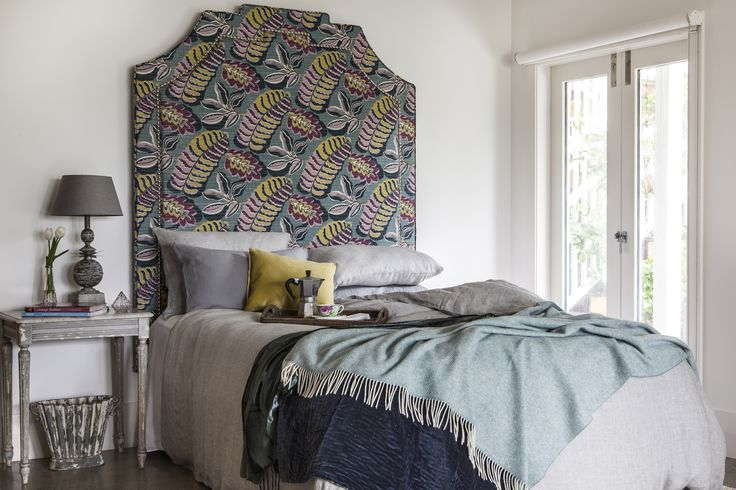 Shown here at 2.1m tall, in an oversized patterned fabric from Sanderson