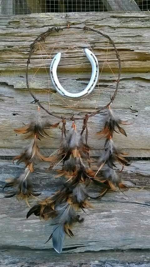 Horseshoe and Barb Wire dreamcatcher