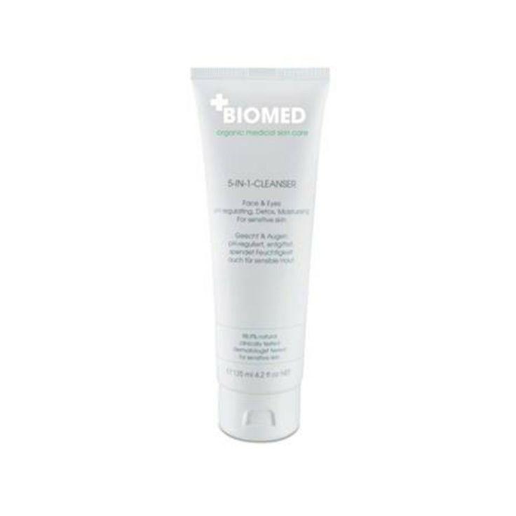 Biomed 5-in-1 Cleanser heeft een 5-voudige werking en laat de huid er jonger en vlekkeloos uitzien. Ook verwijdert het zachte make-up zoals; eyeliner,mascara en oogschaduw.