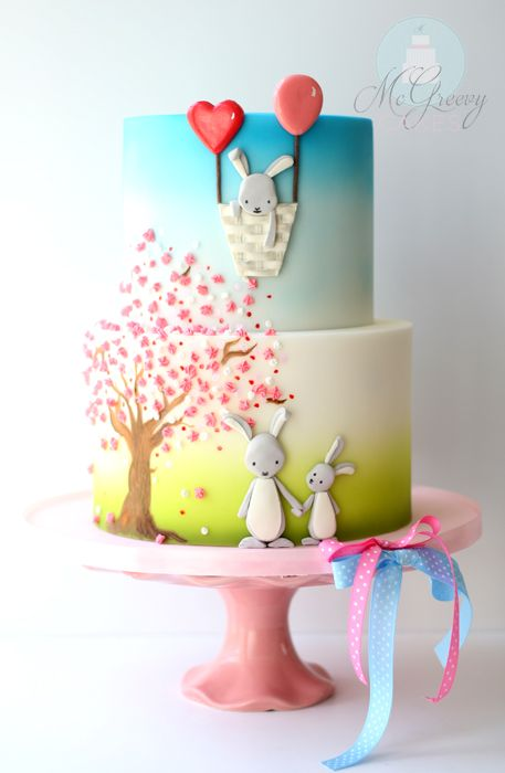 Hand Painting and 2(and 1/2)D Bunnies! - McGreevy Cakes