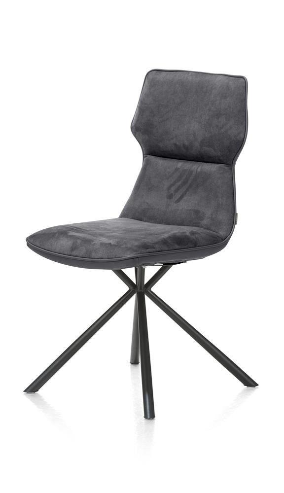 Xooon: Demi € 199,- |  eetkamerstoel - zwart frame + pocketvering + Calabria / Tatra combi € 199,- | Productgroep: Eetkamerstoelen | Afmetingen: Breedte: 49 cm Diepte: 60 cm Hoogte zitting: 49 cm Hoogte: 92 cm